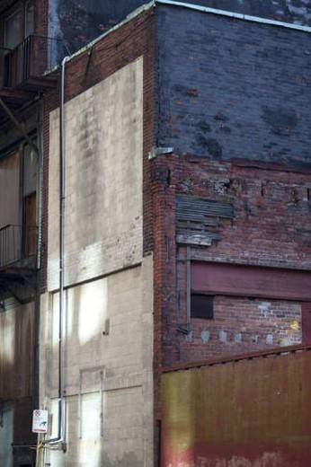 Stock Photo: 4029R-462869 Derelict exterior walls in Boston, Massachusetts, USA