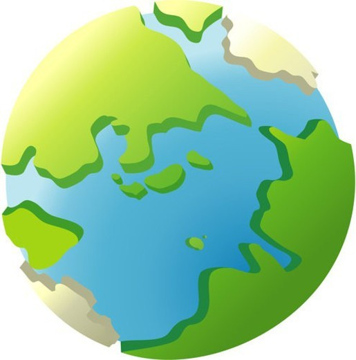 Stock Photo: 4029R-463555 universe, earth, globe, traveling, world, icon