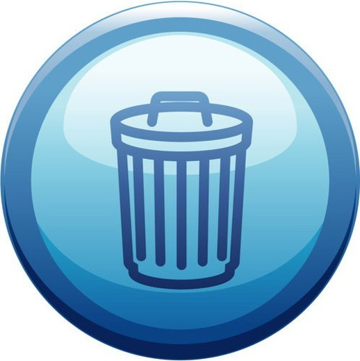 button, trash can, house item, logo, web : Stock Photo
