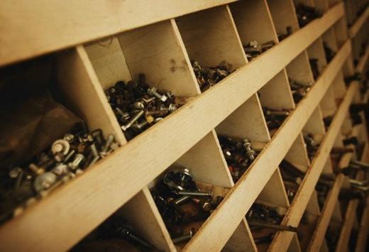 Workshop storage : Stock Photo