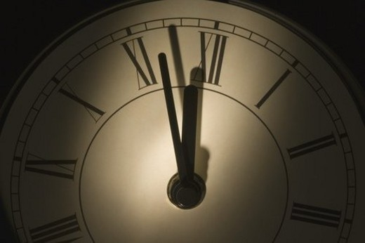 Close-up of a wall clock : Stock Photo
