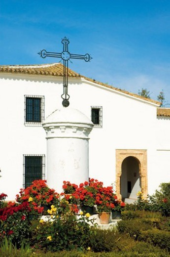 Stock Photo: 4029R-53367 Spain, Andalucia, Andalusia, Huelva, La rabida, Church, Architecture