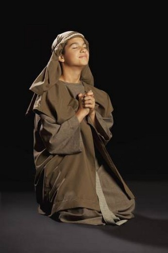 Stock Photo: 4029R-54738 boy portraying a young jesus