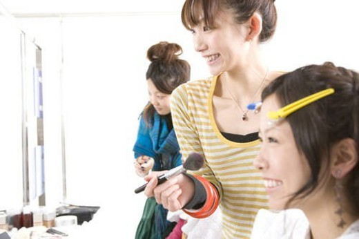 Beauty College Students in Class : Stock Photo