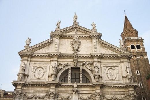 Stock Photo: 4029R-59056 Facade of San Moise Church in Venice, Italy.