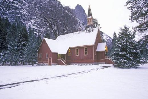 Church in Winter : Stock Photo