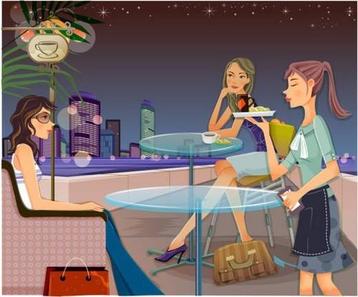 chair, restaurant, sofa, table, cafe, woman : Stock Photo