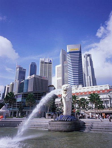 Stock Photo: 4029R-64883 Merlion Park