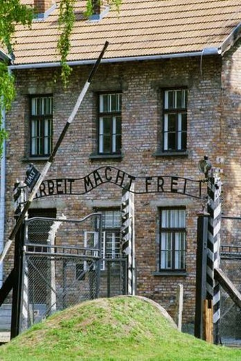 Auschwitz Nazi Concentration Camp, Oswiecim, Poland : Stock Photo