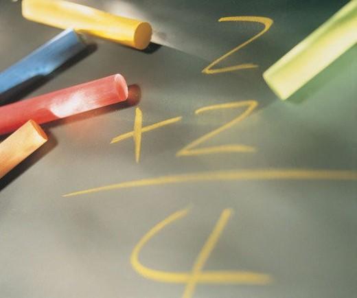 stationary, chalk, pen, blackboard : Stock Photo