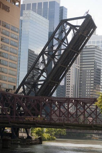 Chicago, Kinzie Street Bridge : Stock Photo