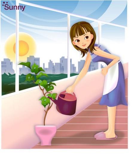 veranda, seasons, city, sun, spring, sunshine : Stock Photo