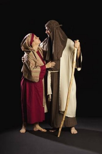 Stock Photo: 4029R-69250 people depicting mary and joseph