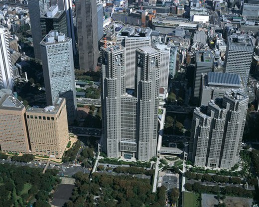 Stock Photo: 4029R-7137 Aerial view of Tokyo, Japan