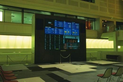The stock exchange, Tokyo, Japan : Stock Photo