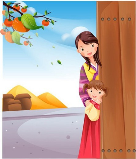 Stock Photo: 4029R-73689 holiday, autumn, harvest day, thanksgiving, fall, mother