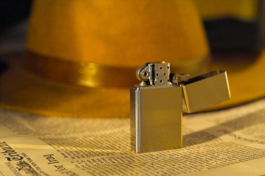 house item, lighter, matches, object : Stock Photo