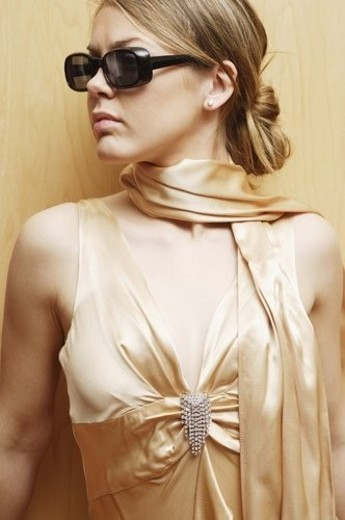 Close up of woman in dress : Stock Photo