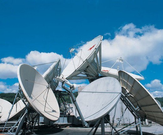 Stock Photo: 4029R-78359 Technology, Satellite, Satellite Dish, Square, Day, Communication