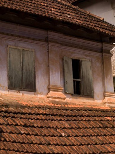 Stock Photo: 4029R-79395 Exterior of a building in Alleppey, Kerala, India
