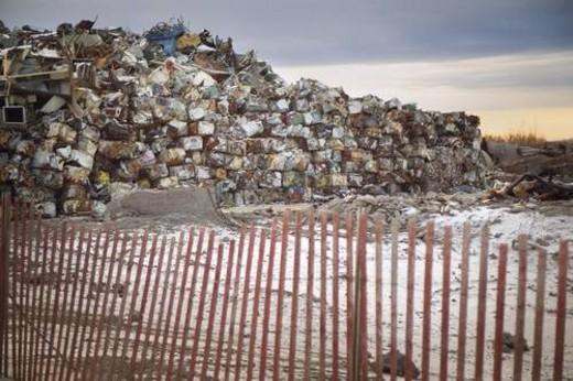Stock Photo: 4029R-80225 Crushed garbage