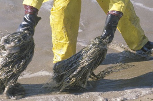 Stock Photo: 4029R-8345 A close-up of a man participating in an environmental clean up