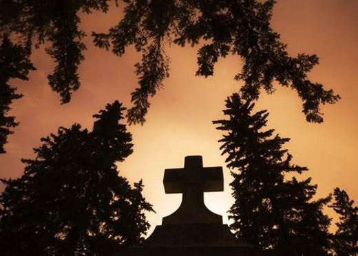Stock Photo: 4029R-83886 Cross silhouette