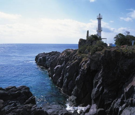 Nagasakibana Lighthouse,  Ibusuki,  Kagoshima Prefecture,  Japan : Stock Photo
