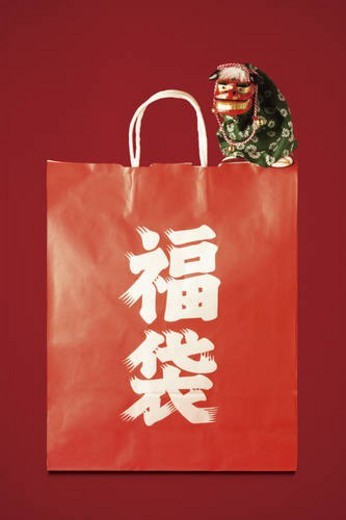 Stock Photo: 4029R-85168 Fukubukuro, Japanese grab bag for New Years.