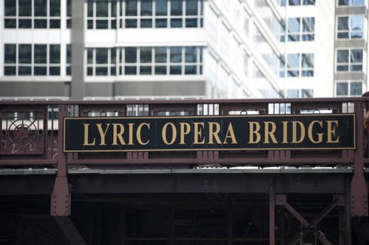 Stock Photo: 4029R-90351 Chicago, Lyric Opera Bridge