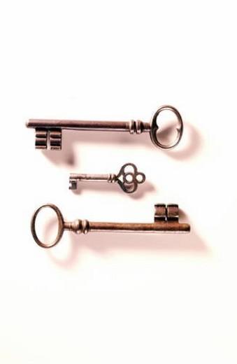 Antique keys : Stock Photo