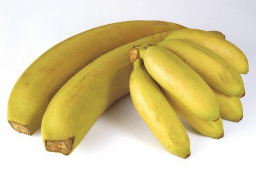 Stock Photo: 4029R-92212 Fruit, Fruits, Banana, Bananas, Yellow, Yellow color, Yellow colour