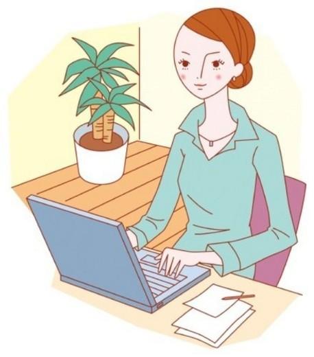 Business Woman, Illustrative, Technique : Stock Photo