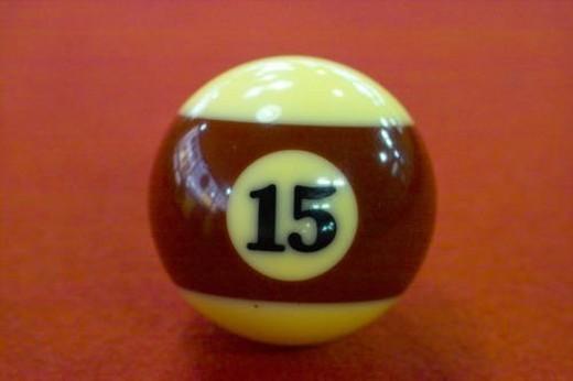 Stock Photo: 4029R-97746 billiards, leisure, billiard ball, game, sports, ball, 15