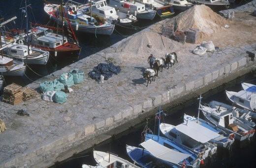 Boats at harbor : Stock Photo