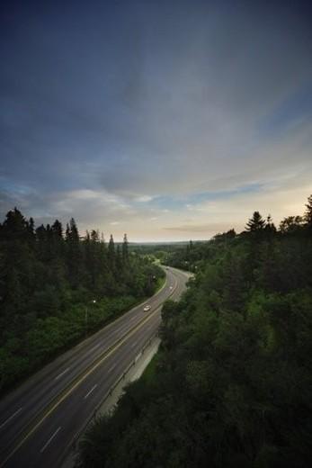 Rural highway deserted : Stock Photo