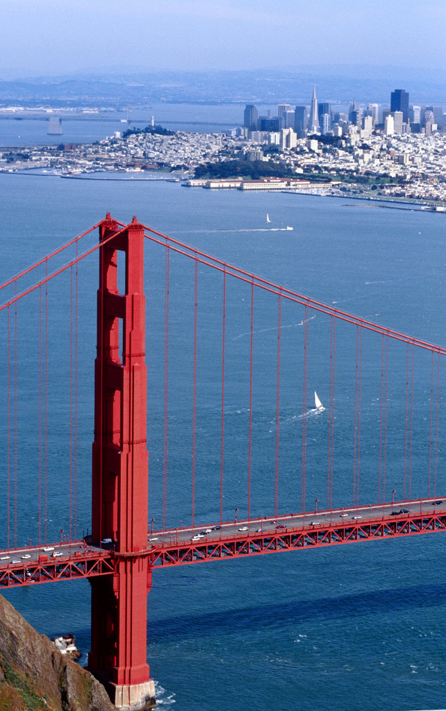 Golden Gate Bridge, San Francisco, California, North America : Stock Photo