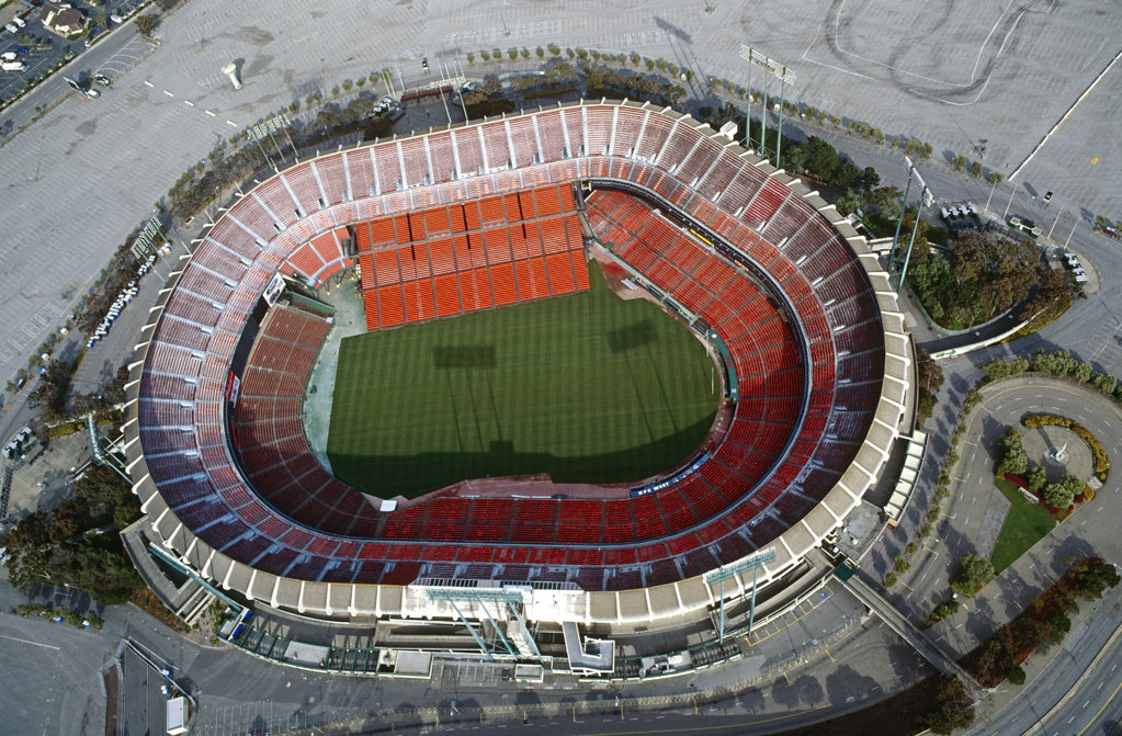 Stock Photo: 4030-1496 Candlestick Park Stadium, San Francisco, California, North America