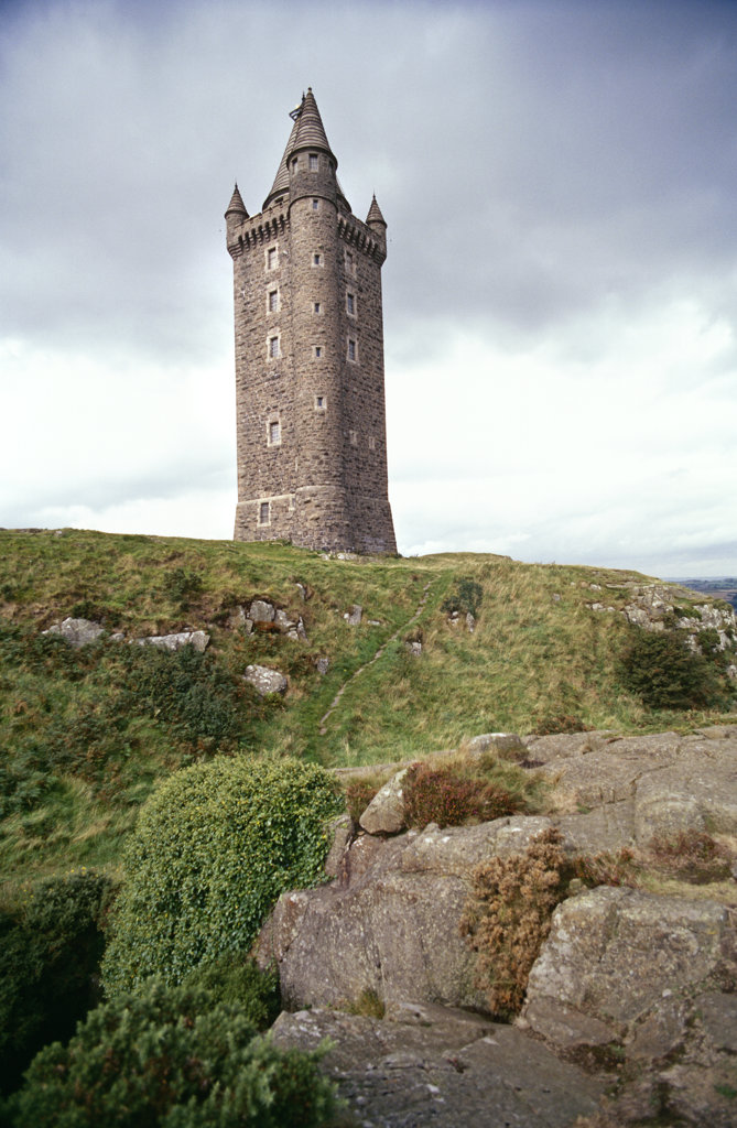 Stock Photo: 4030-1708 Scrabo Tower, Ard Peninsula, Ireland
