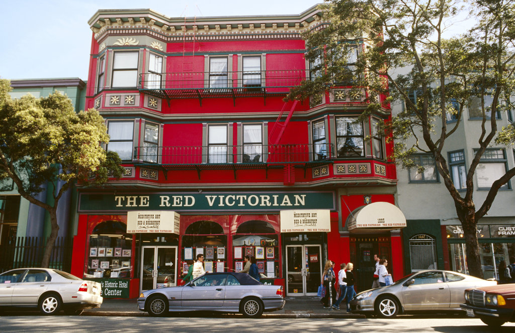 Stock Photo: 4030-2395 The Red Victorian, San Francisco