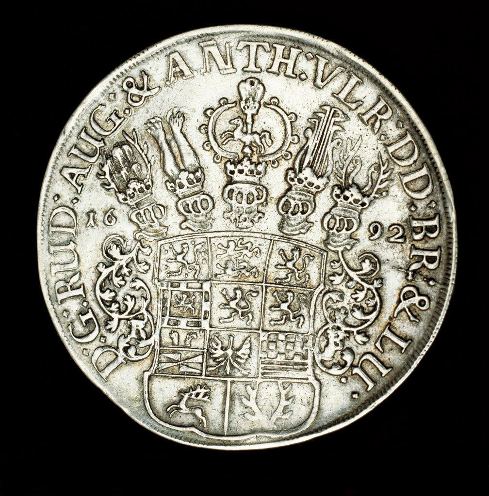 Rare German Coin, Brunswick, Wolfenbuttel : Stock Photo