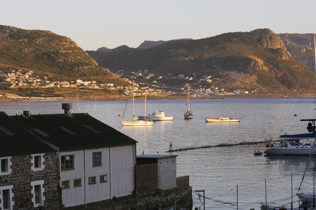 Simon's Town in False Bay, Cape Peninsula, Greater Cape Town, South Africa : Stock Photo