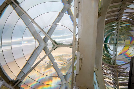 Stock Photo: 4030-3657 Interior of M'Bashee Lighthouse, located in a remote area on the east side of the mouth of the M'Bashee Rive , Wild Coast, Eastern Cape, South Africa