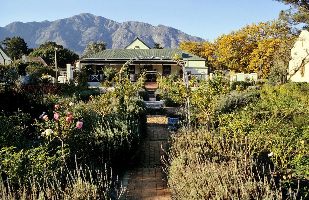 Residence Klein Olfants Hoek , Franschhoek, Western Cape : Stock Photo