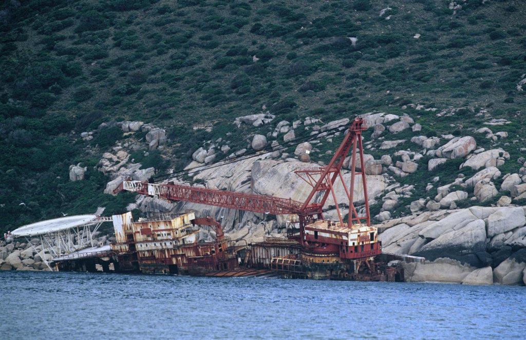 Wreck of the Antipolis , Oudekraal, Atlantic Seaboard : Stock Photo