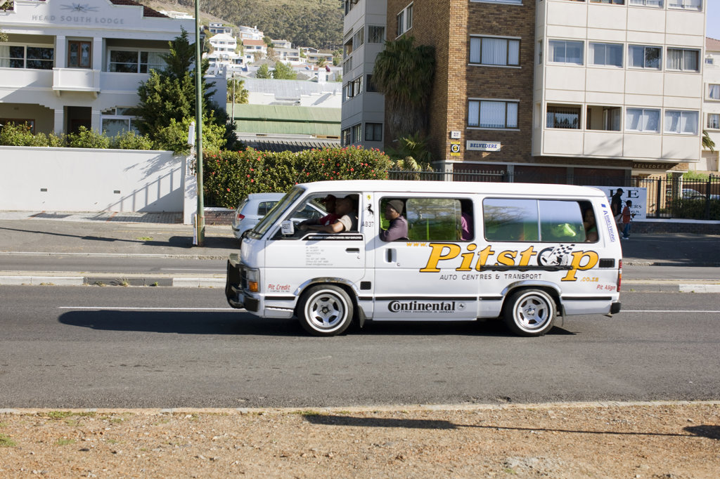 Stock Photo: 4030-4767 Taxi, Cape Town, Western Cape