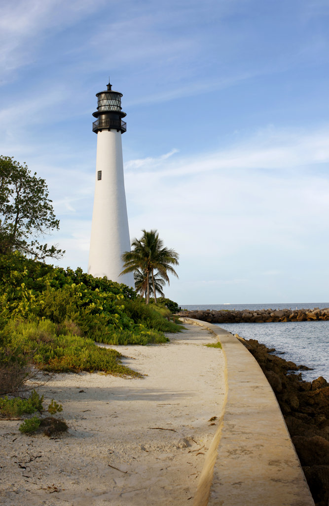 Cape Florida Lighthouse, Miami, USA : Stock Photo