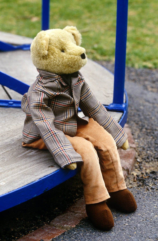Teddy Bear at the Park : Stock Photo