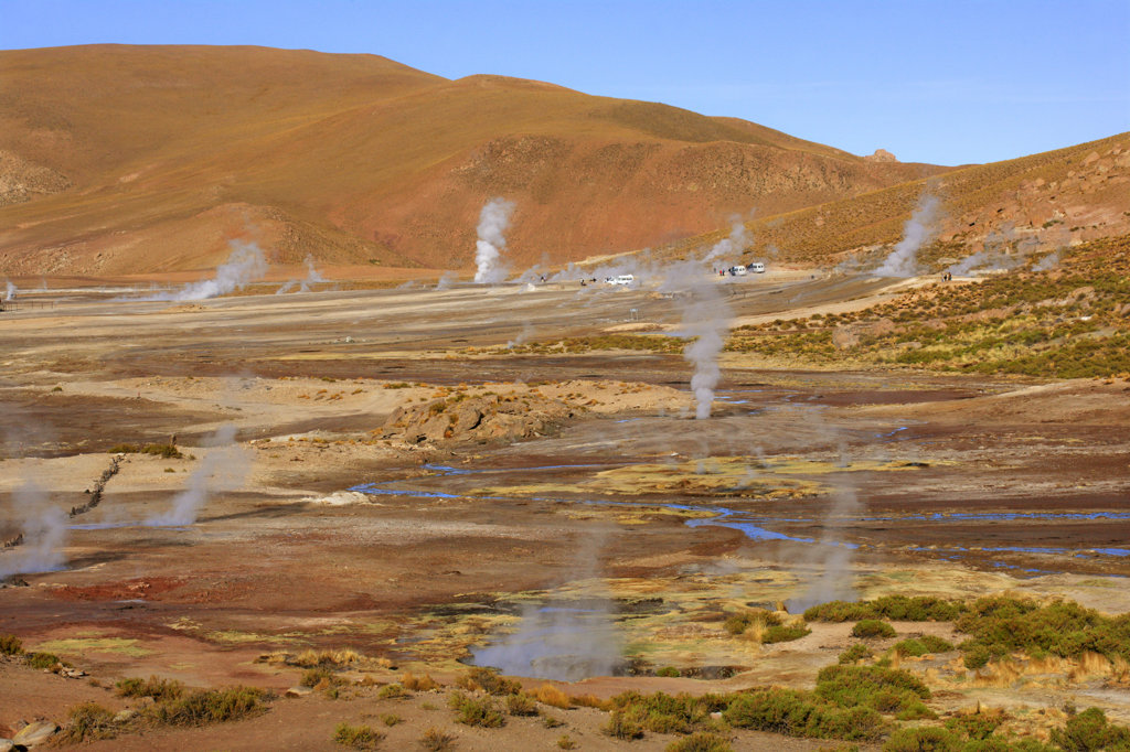 Stock Photo: 4030-6206 El Tatio Geysers, Chile