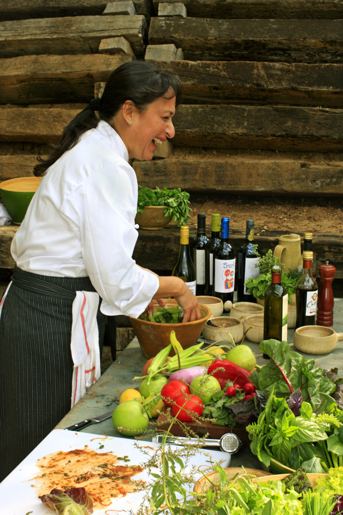 Pillar Rodriguez, Preparing Food, Chile : Stock Photo